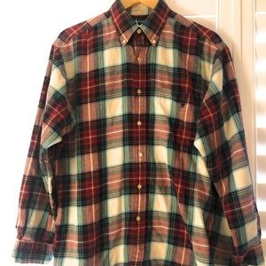 Ralph Lauren Blaire Cotton Plaid Shirt